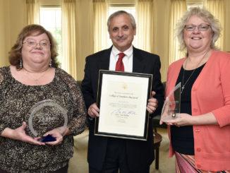Photo with awards