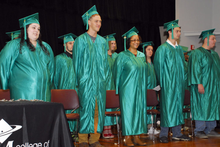 Adult GED graduation