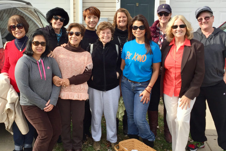 Geno Rothback, College of Southern Maryland Zumba and kickboxing instructor, organized for the second consecutive year a food drive to assist a local family