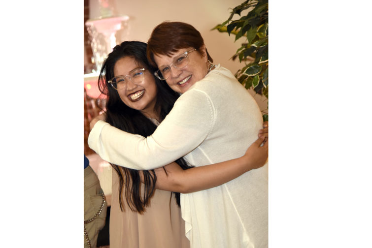 College of Southern Maryland Student Camille De Jesus, left, was recognized by CSM President Dr. Maureen Murphy