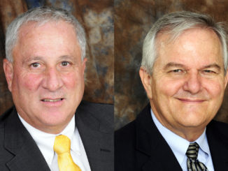 CSM Board Chair Ted Harwood, left and Vice Chair Brad Bates.